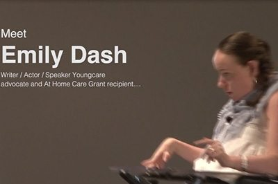 Youngcare advocate Emily Dash