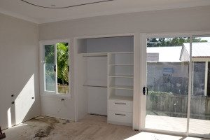 Bedroom construction at the Youngcare Share House at Wooloowin
