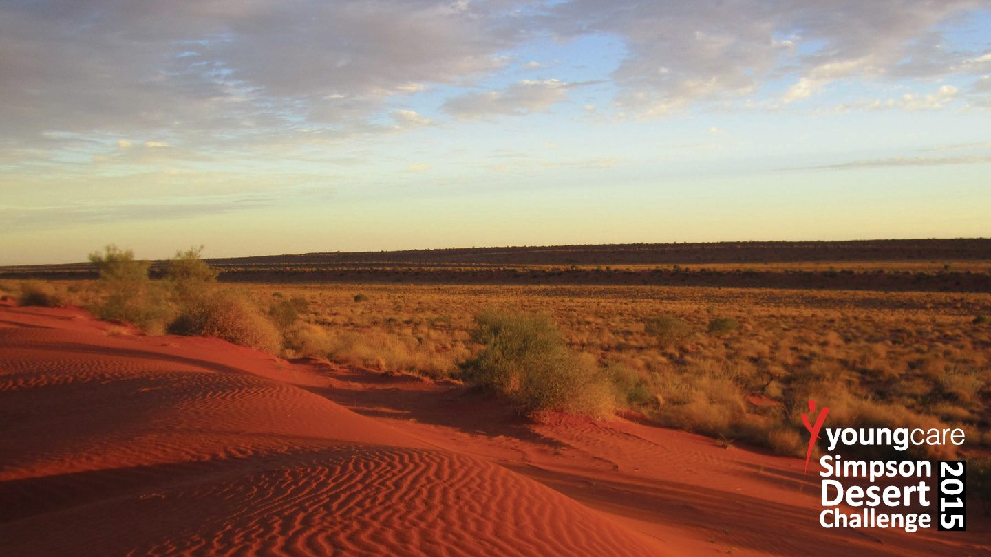 Rich red desert at the Youngcare Simpson Desert Challenge 2015