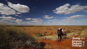 Vast horizons for members of the Youngcare Simpson Desert Challenge 2015