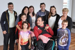 Youngcare resident Brian and his family