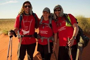 James, Sam and Rick in the Simpson Desert for the Youngcare Simpson Desert Challenge 2015