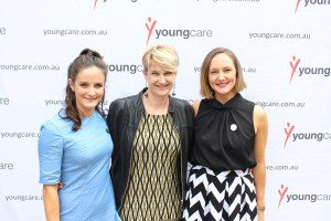 Mary Mclean, Sam Kennerley and Abby Mackay at the 2015 Youngcare Long Lunch