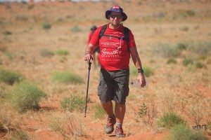 Scott Younes trekking the Simpson Desert for Youngcare