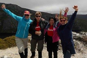 Youngcare-cradle-mountain-trekkers-atop-the-mountain