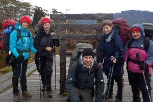 Youngcare-cradle-mountain-trekkers-with-direction-sign