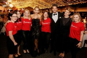 Volunteers with Tim and Anna from The Bachelor at the Brisbane Racing Carnival Ball
