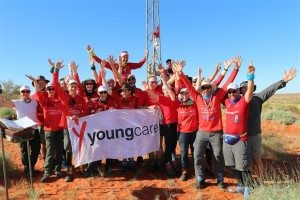 Youngcare Simpson Desert Trekkers 2016 at the Geographical Centre of the Simpson Desert