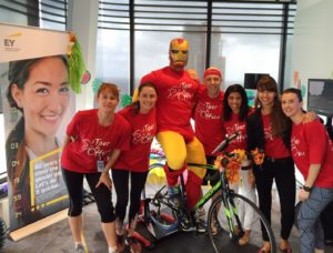The teams at EY and Staples sweated it out for Tour De Office, raising a huge $20,000 and $6,500 respectively
