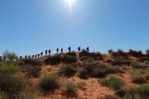 The vast terrain of the Simpson Desert