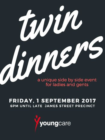 twin dinners - a unique side by side event for ladies and gents