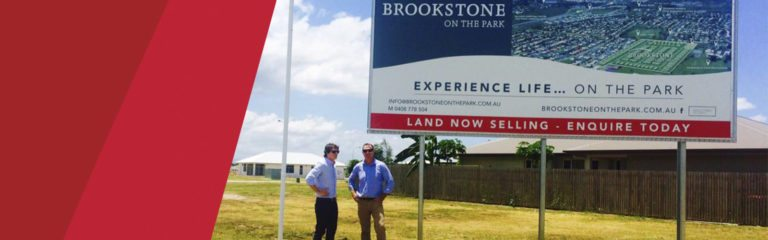 Brookstone development signage